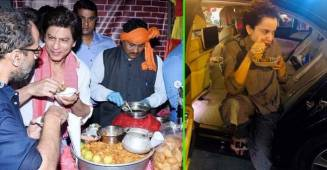Famous Bollywood celebs like SRK, Salman Khan, Varun Dhawan and their love for street food