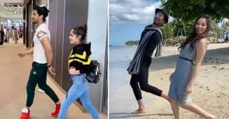 Popular actress Jannat Zubair and TikTok star Faisal Shaikh chills together in Mauritius