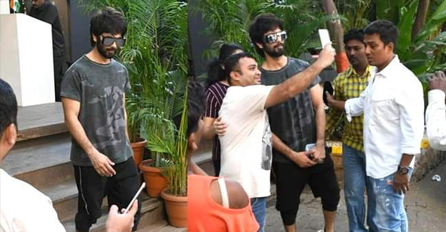 Shahid Kapoor is all smiles as he clicks selfies with fans post workout session