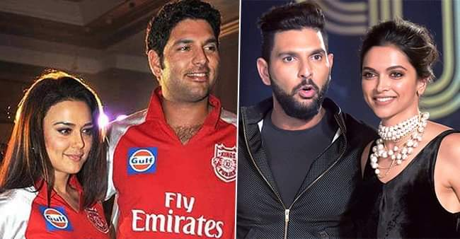 Yuvraj Singh and his famous affairs with the leading Bollywood beauties