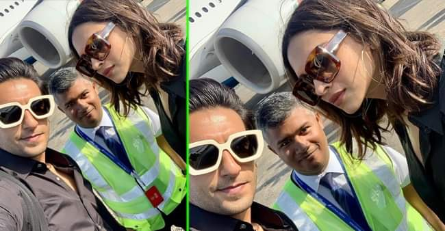 Ranveer Singh and Deepika Padukone paints a pretty picture with fans from their vacation