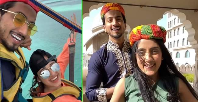 After announcing project with Jannat Zubair, Faisal Shaikh shares a TikTok video with Sameeksha Sud