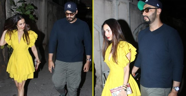 Malaika and Arjun look delightful as they step out together to celebrate Malaika's mommy's B'Day