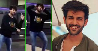 Video: Kartik Aaryan looks tired as he practices for his popular 'Haan Main Galat' song