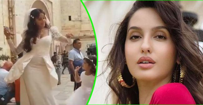 Throwback: Nora Fatehi looks adorable as she dances with her little fan on Dilbar Dilbar