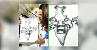Hina Khan portrays the current lockdown condition of India through her beautiful sketch