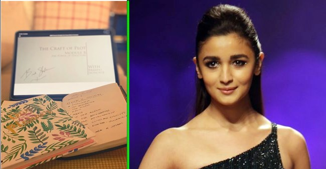 Alia Bhatt uses her lockdown time in the right way as she takes a creative writing course