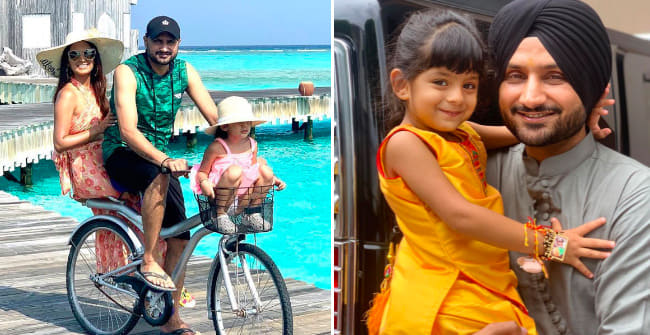 Bhajji Is Not Just A Great Cricketer But Also A Doting Dad; Photos Are Proof