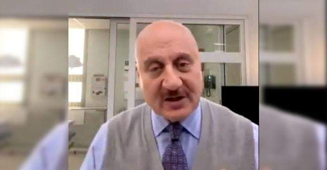 Anupam Kher croons a song on social media, dedicates it to all the baldies