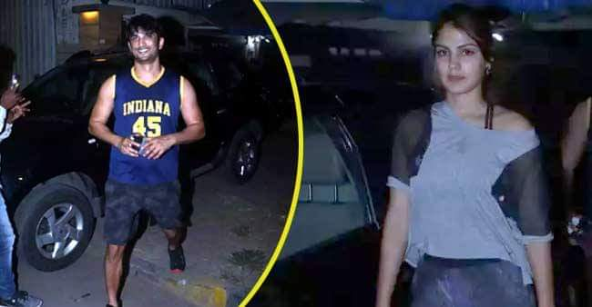 Rhea Chakraborty and Sushant Singh Rajput photographed together after a gym session