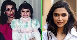 Deepika looks cute as a button as she poses with mommy in her childhood photo