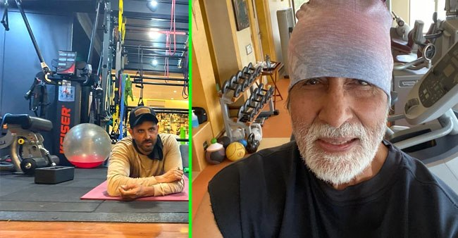 Hrithik Roshan to Amitabh Bachchan: B-Town celebrities and their home gyms