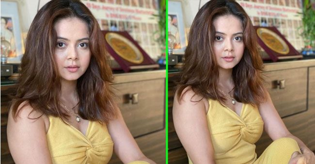 Devoleena Bhattacharjee blooms like a flower as she poses in a beautiful yellow dress