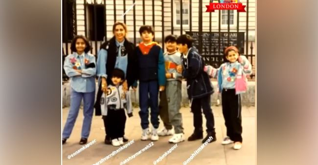 Sonam and Arjun are the happiest kids as they pose with family in this throwback London pic