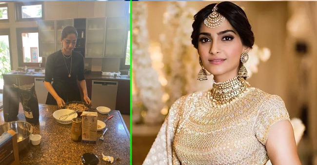 Sonam Kapoor impresses mother-in-law as she bakes a cake for all in lockdown, see pic