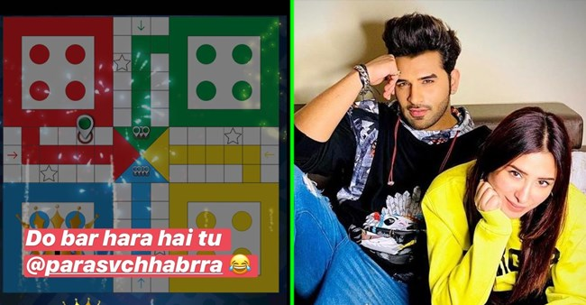 Mahira Sharma teases BF Paras as he loses to her in their 'favorite game', shares pic