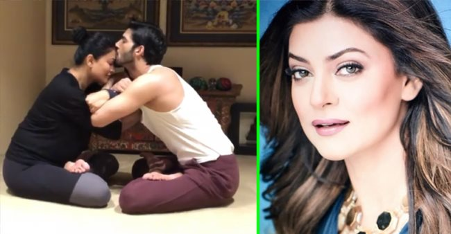 Sushmita Sen and BF Rohman end their 'Garbhasana' yoga session with a romantic twist; Video