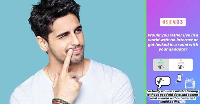 Sidharth Malhotra talks about living without social media during the lockdown