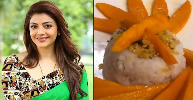 Kajal Aggarwal flaunts her culinary skills as she cooks mango sticky rice for her family