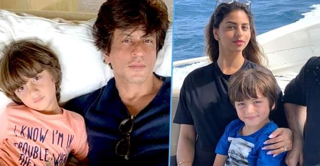 Shah Rukh Khan's youngest one AbRam is the most pampered kid of the Khan-dan