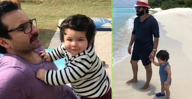 Taimur Ali Khan is the coolest star kid and his throwback beach pic with daddy Saif says it all