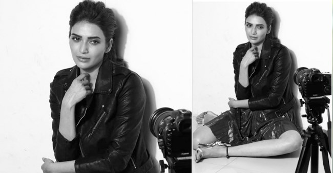 Karishma Tanna looks beautiful as she shares a monochrome pic of her, captions 'black makes me happy'