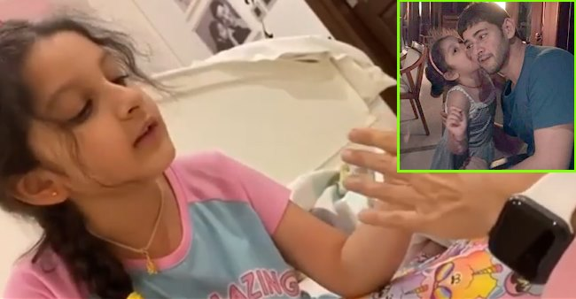Mahesh Babu's daughter Sitara turns beautician as she pampers mommy Namrata with a manicure