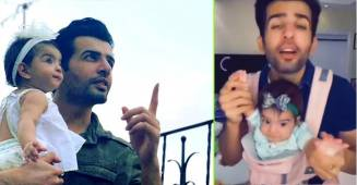 Jay Bhanushali looks cute as he grooves with baby Tara, asks fans to suggest a nickname for her