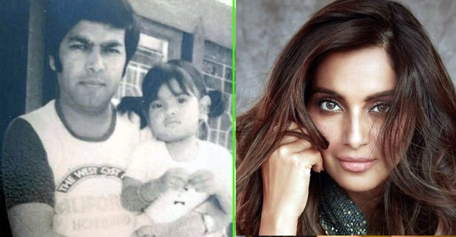 Bipasha Basu looks cute as a button as she poses with her daddy in this throwback picture