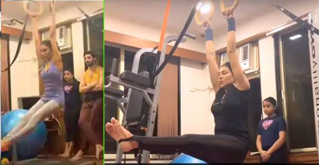 Rohman Shawl becomes a fitness trainer for Sushmita's kids Alisah and Renee; Watch video