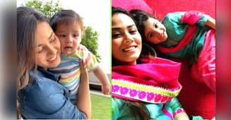 Mira Rajput is an adorable mommy and her pics with kids Misha and Zain say it all