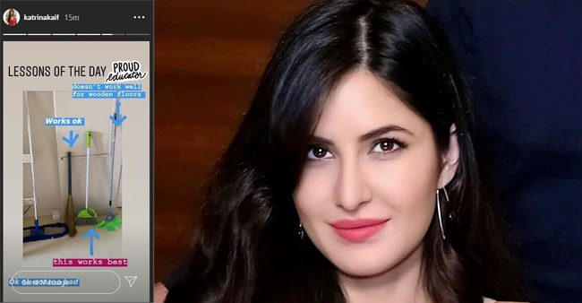 Katrina Kaif has become a cleanliness pro as she shares her knowledge on 'types of brooms'