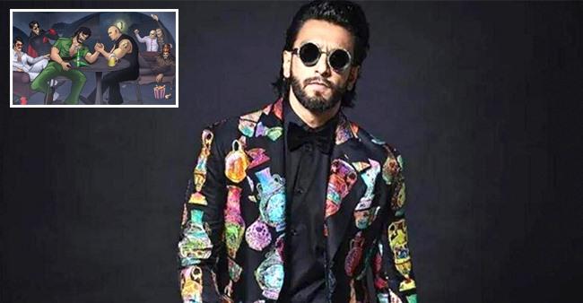 Ranveer Singh Enjoys His Own 'Gangsta Party' Online Featuring Iconic Baddies Of Bollywood