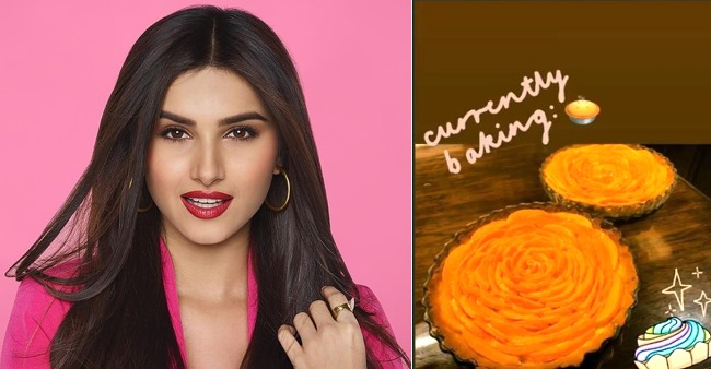 Tara Sutaria channels her inner chef as she bakes a delicious mango pie, shares pic