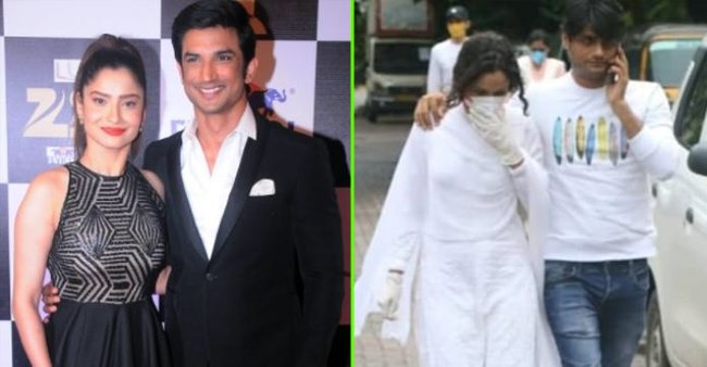 Ankita Lokhande pays a visit to Sushant Singh Rajput's house to meet his family