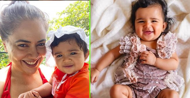 Sameera Reddy and daughter Nyra looks cuteness overloaded as they twin in orange; Pic