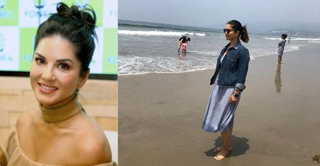 Sunny Leone looks beautiful as she spends some quality time at the beach; Pic
