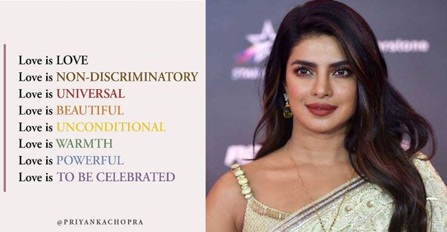 Priyanka shares her 'definition of love' with fans as she celebrates Pride month; See pic