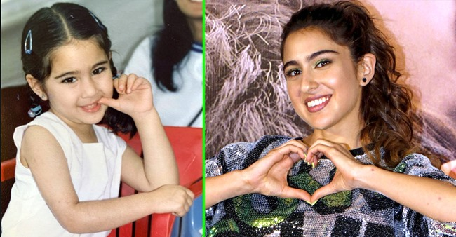 'Baby' Sara Ali Khan looks cute as a button as she poses in this throwback childhood picture