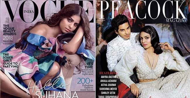 Suhana Khan, Janhvi Kapoor and other star kids debuted with magazine covers before a film
