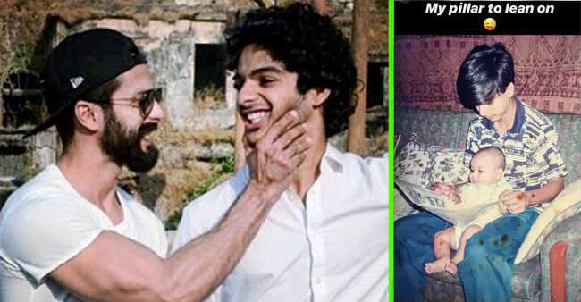 Ishaan Khatter shares an adorable childhood pic with Shahid Kapoor and it's all about selfless love