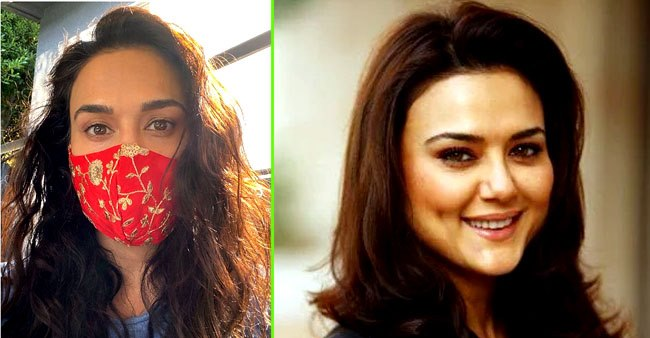 Preity Zinta gives us desi vibes as she poses with a beautiful designer mask; Pic