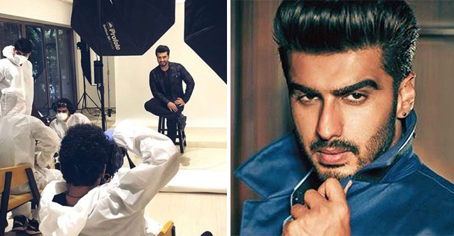 Arjun Kapoor is back to work after four months and has shared an image of the same