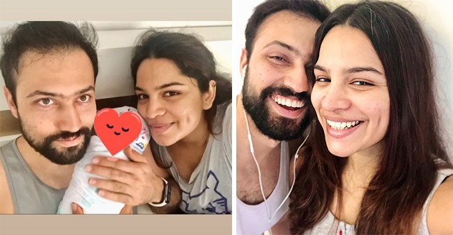 Shikha Singh shares the joys of parenthood and a little glimpse of baby Alayna