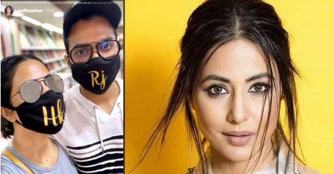 Hina Khan meets her beau Rocky Jaiswal and future lil sister-in-law, and her happiness shows