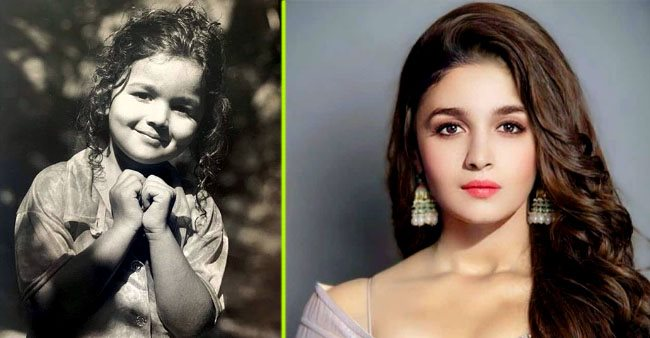 Alia Bhatt shares adorable childhood pic, whole Bollywood seems to be smitten with her