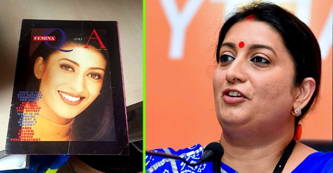 Smriti Irani's throwback to her modelling days is giving us strong nostalgic vibes
