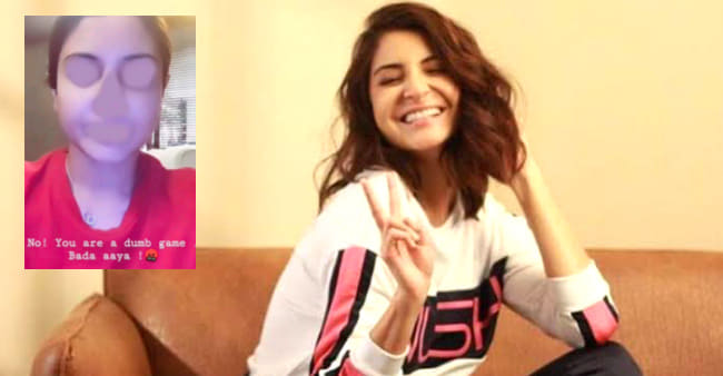 Anushka Enjoys 'Dumb Game' On Insta But The Final Outcome Will Make You Laugh Out Loud