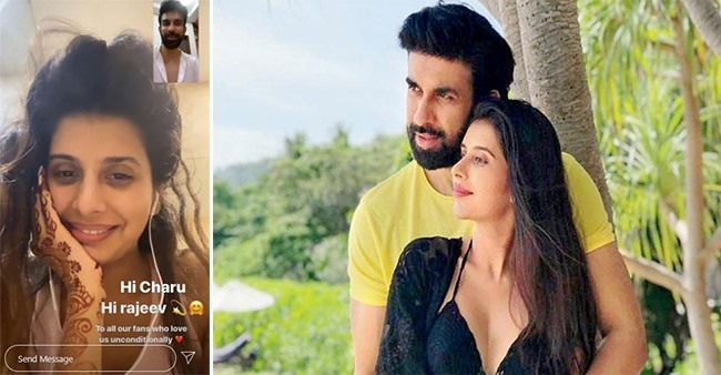 TV Star Charu Asopa & Rajeev Sen Connected With Each Other Over A Video Call; Fans Happy