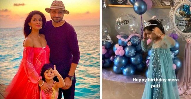 Bhajji's Daughter Turns 4; Loving Family Hosts A 'Frozen'-Themed Birthday Bash For Hinaya